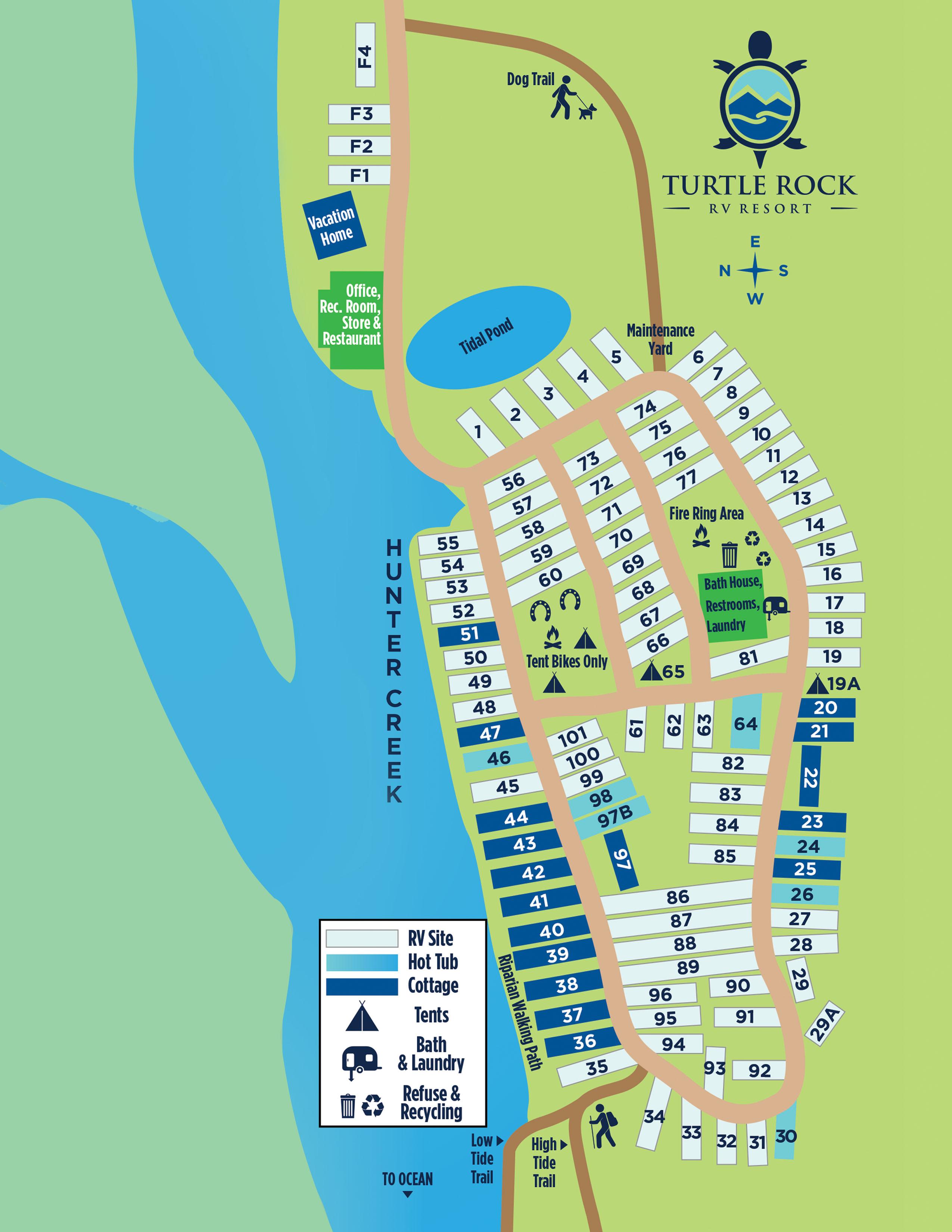 Turtle Rock RV Resort in Gold Beach, Oregon - Home on